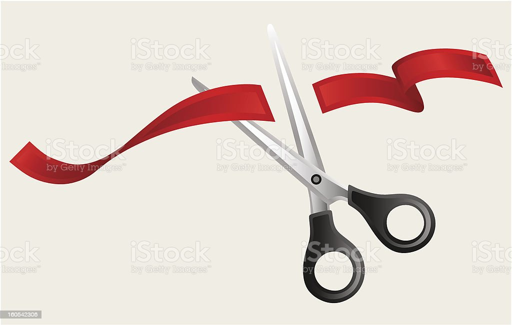 Tape and scissors royalty-free stock vector art