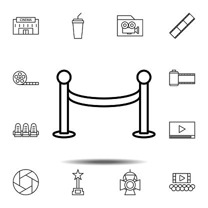 tape, fance icon. Simple thin line, outline vector element of Cinema icons set for UI and UX, website or mobile application