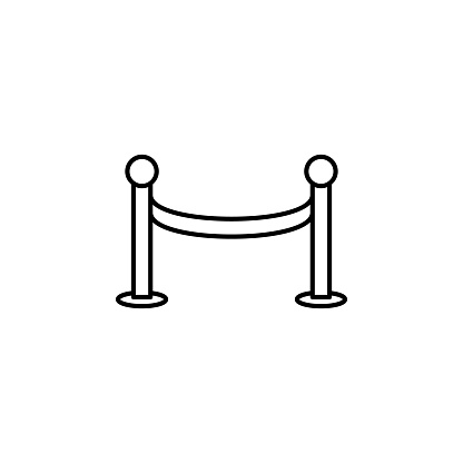tape, fance icon. Simple thin line, outline vector of movie, cinema, film, screen, flicks icons for UI and UX, website or mobile application