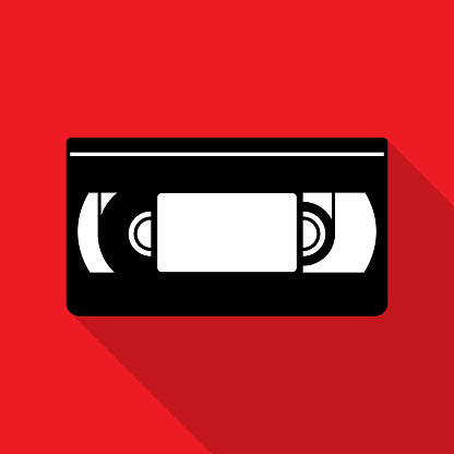 VHS Tape Icon Silhouette 2