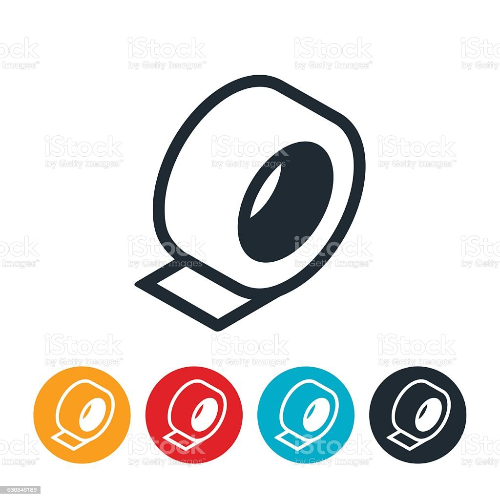 Tape Icon vector art illustration
