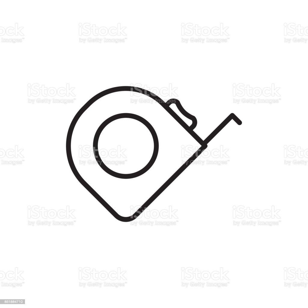 tape measure icon on white background