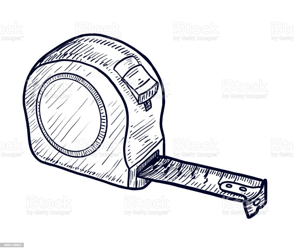 It is a graphic of Astounding Measuring Tape Drawing