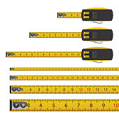 istock Tape measure vector design illustration isolated on white background 1206996238