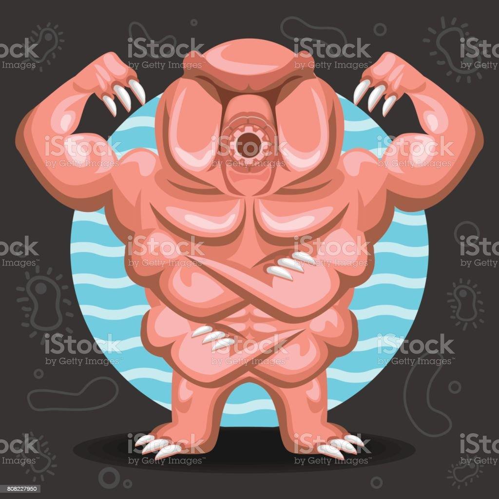 Tardigrade água urso ilustração - ilustração de arte em vetor