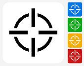 Target Aim Icon Flat Graphic Design