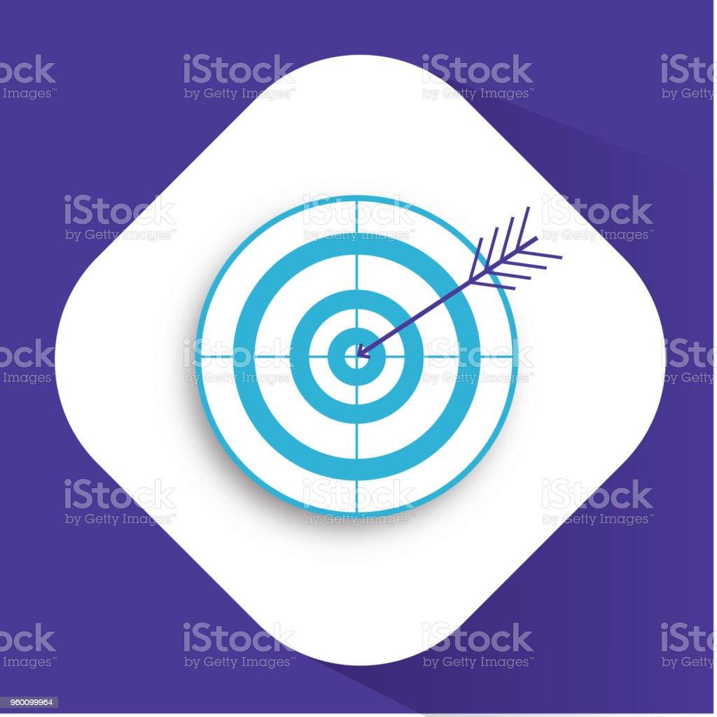 Target and arrow icon. Bullseye symbol. Modern flat design graphic illustration. Vector target and arrow icon vector art illustration