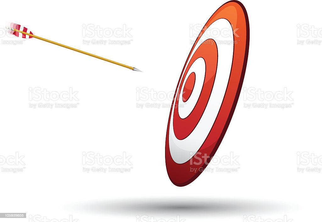 target and arrow in motion. royalty-free stock vector art