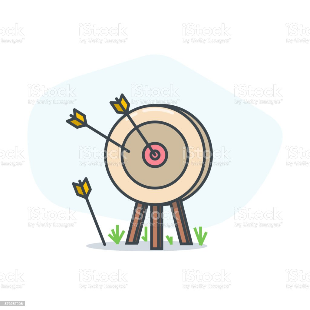 Target and arrow vector art illustration