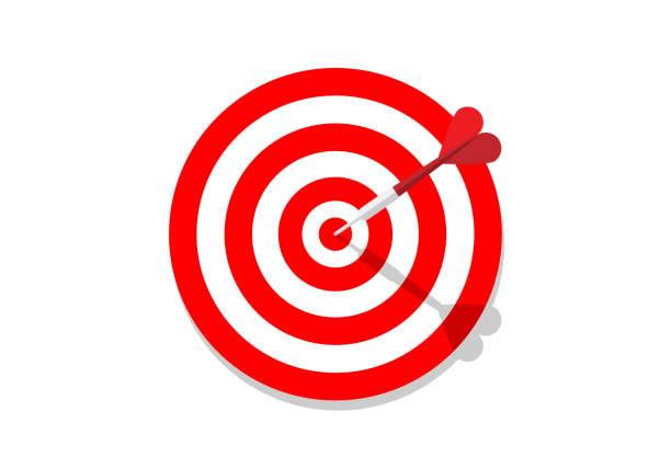 Target and Dart vector art illustration