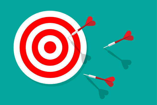 Target and Darts Target and Darts sports target stock illustrations