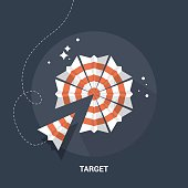 Target and goal flat modern design