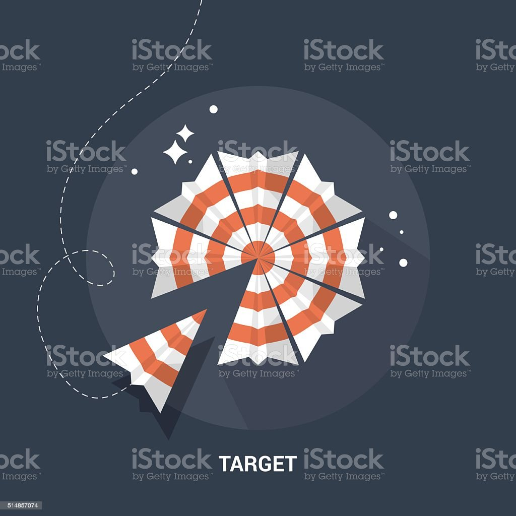Target and goal flat modern design vector art illustration