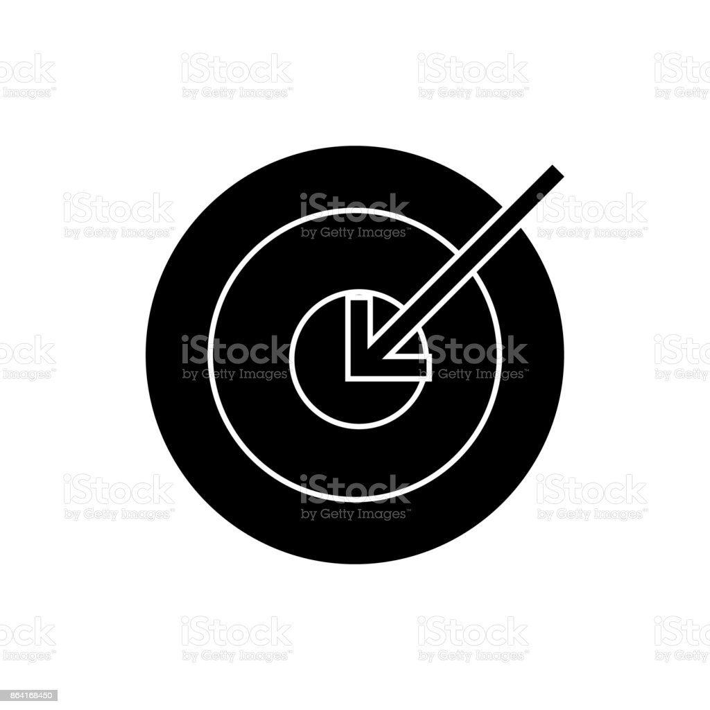 target arrow  icon, vector illustration, sign on isolated background royalty-free target arrow icon vector illustration sign on isolated background stock vector art & more images of accuracy