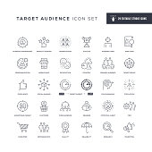 29 Target Audience Icons - Editable Stroke - Easy to edit and customize - You can easily customize the stroke width