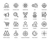Target Audience Icon Set - Thin Line Series