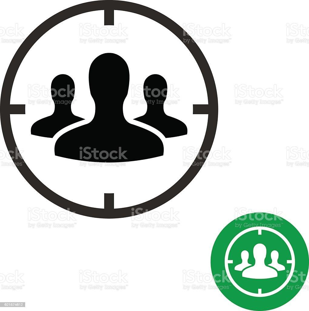 Target audience icon. target audience icon – cliparts vectoriels et plus d'images de adulte libre de droits