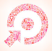 Target on Breast Cancer Awareness Icon Pattern