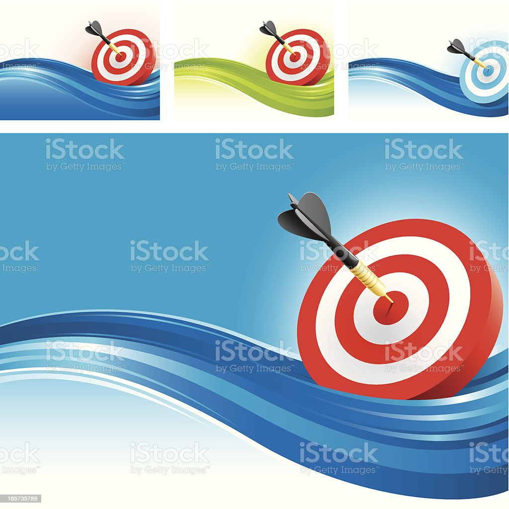 Target concept backgrounds royalty-free stock vector art