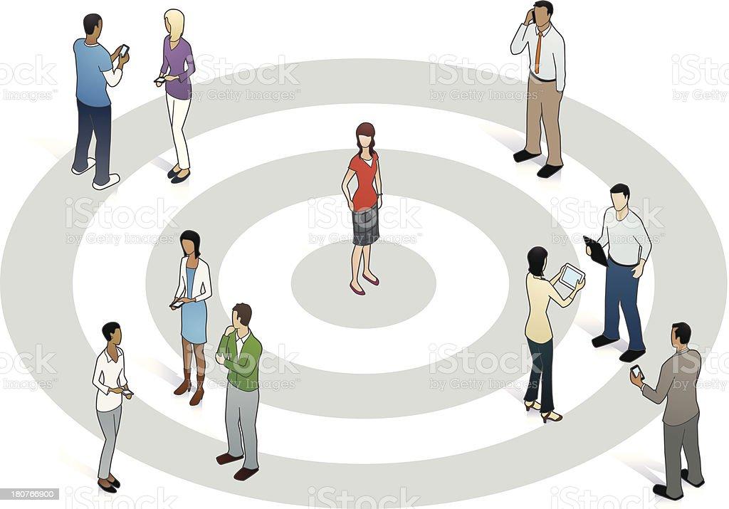 Target Customer Illustration royalty-free stock vector art