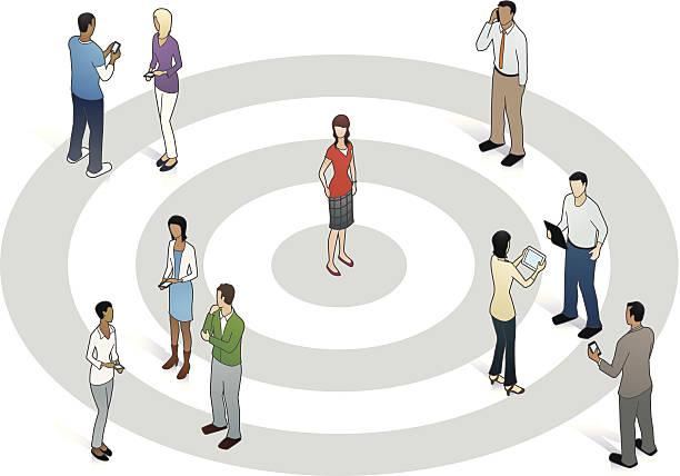 Target Customer Illustration vector art illustration