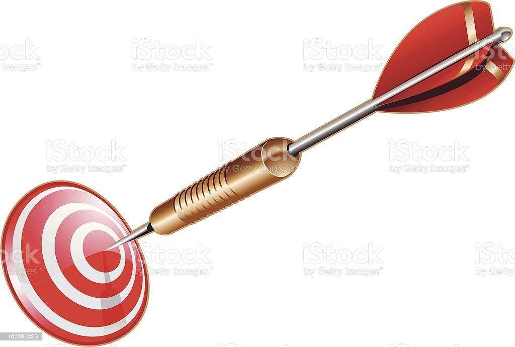 target dart royalty-free stock vector art