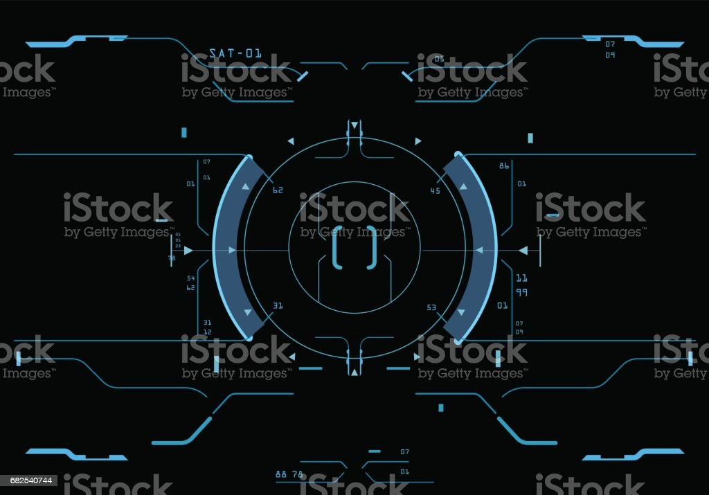 Target element of the interface. vector art illustration