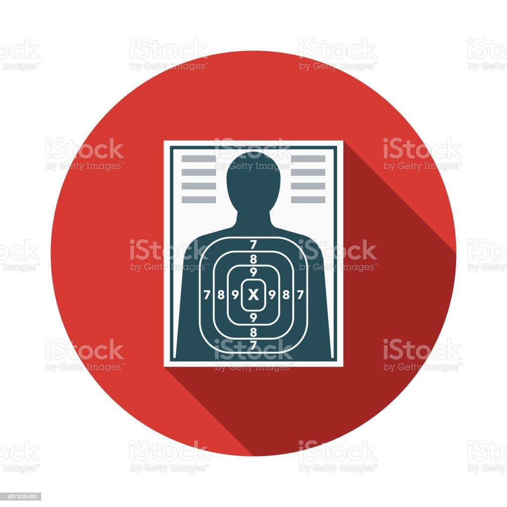 Target Flat Design Crime Punishment Icon Stock Vector Art More
