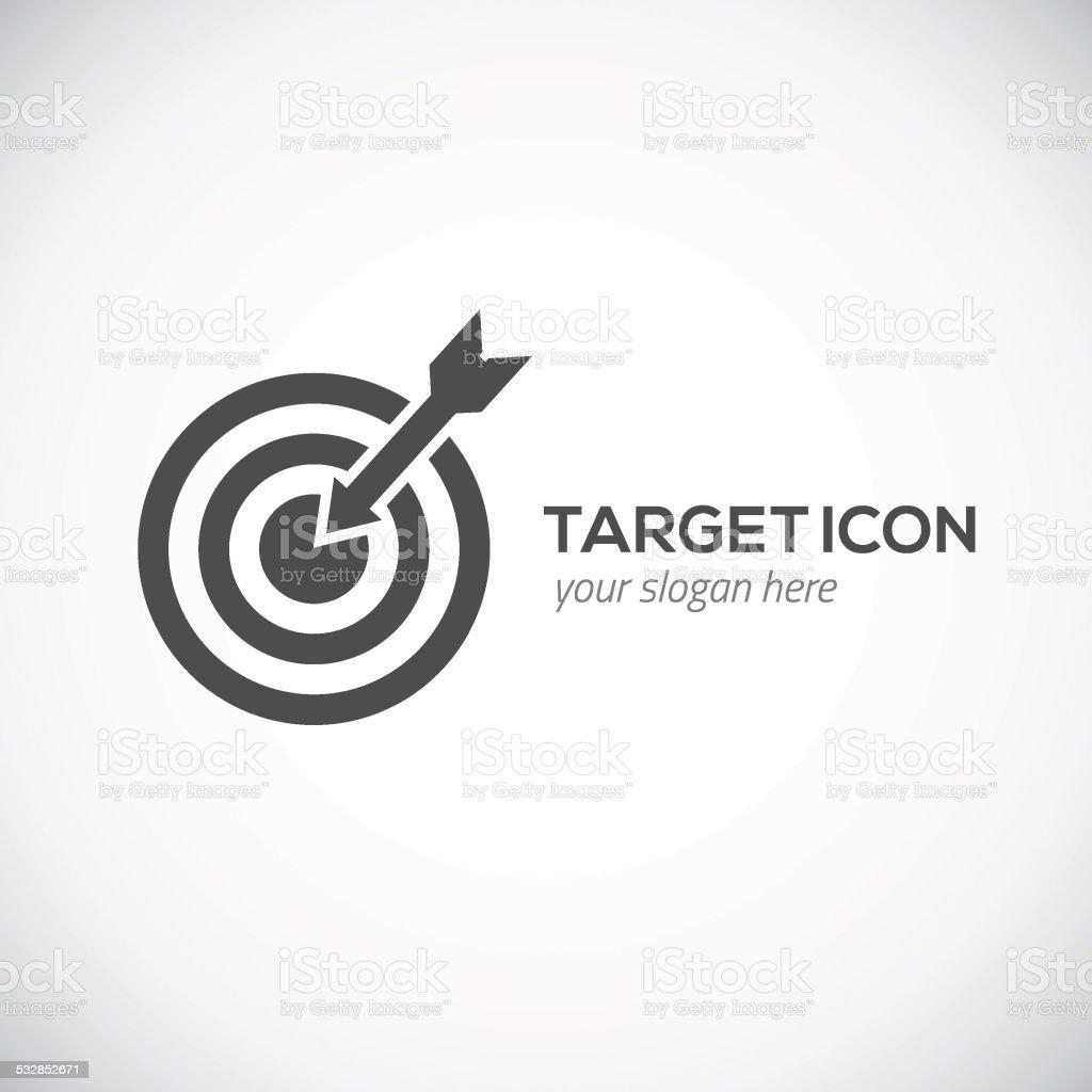 Target icon. Logo concept. vector art illustration
