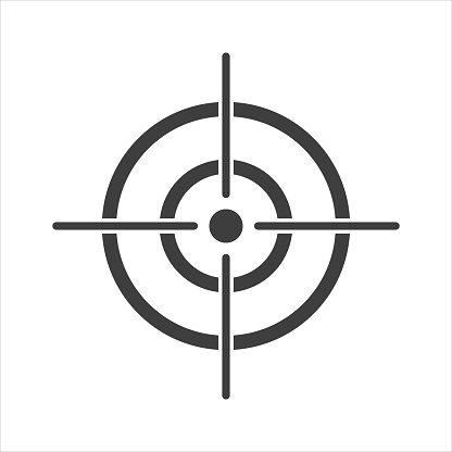 target icon on a white background. EPS10