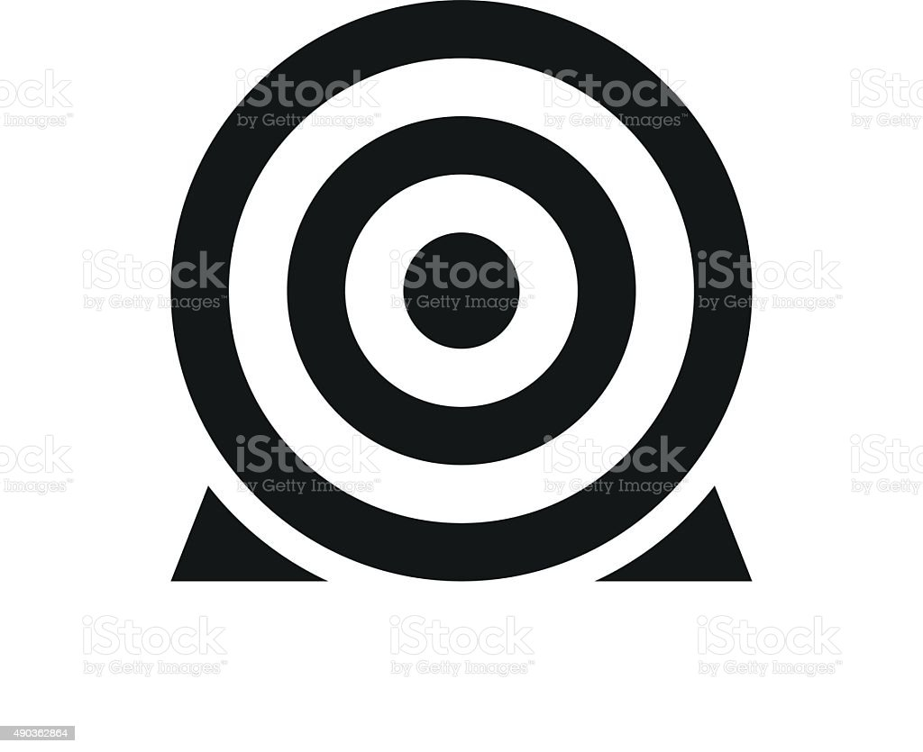Target icon on a white background. - SingleSeries vector art illustration