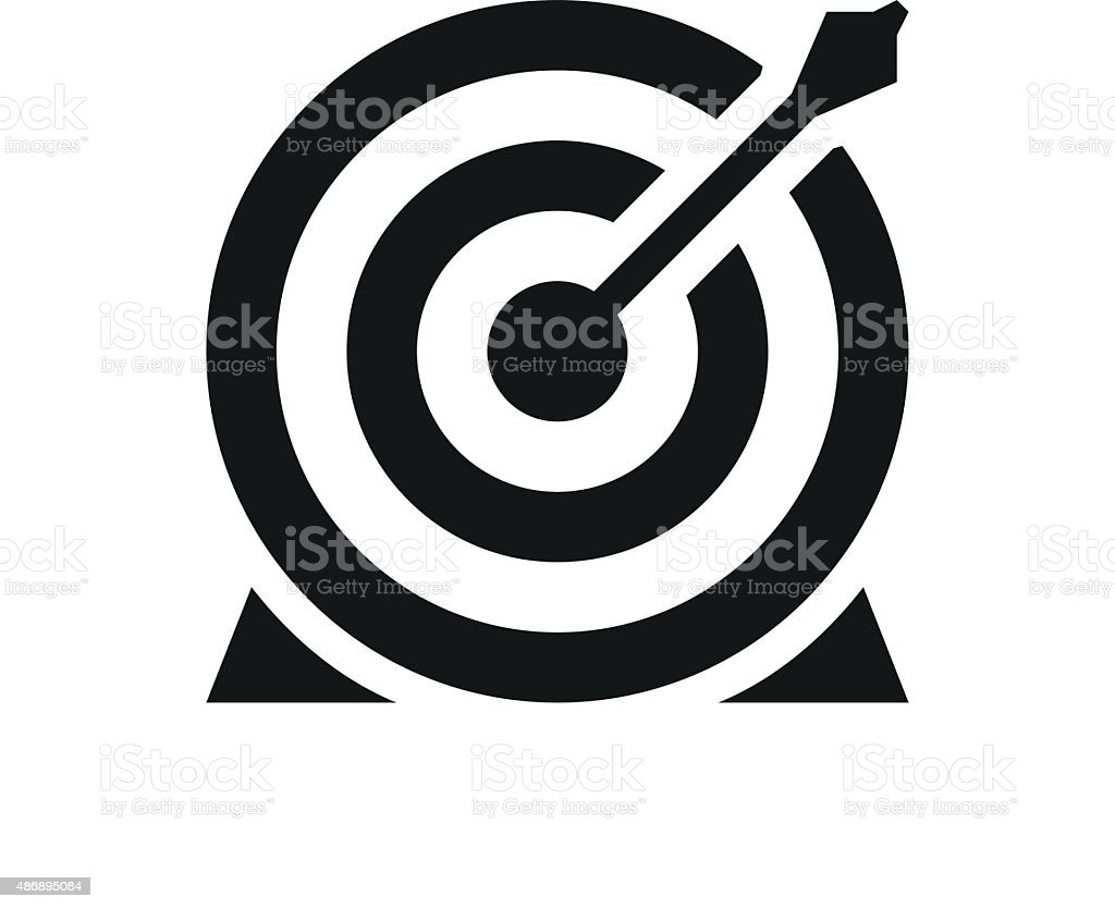Target icon on a white background. royalty-free target icon on a white background stock vector art & more images of 2015
