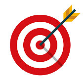 istock Target Icon on Transparent Background 1282050925