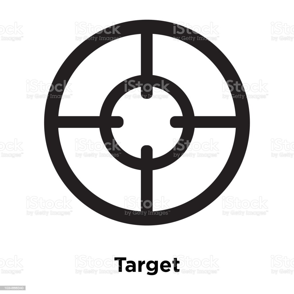 Target Icon Vector Isolated On White Background Logo Concept