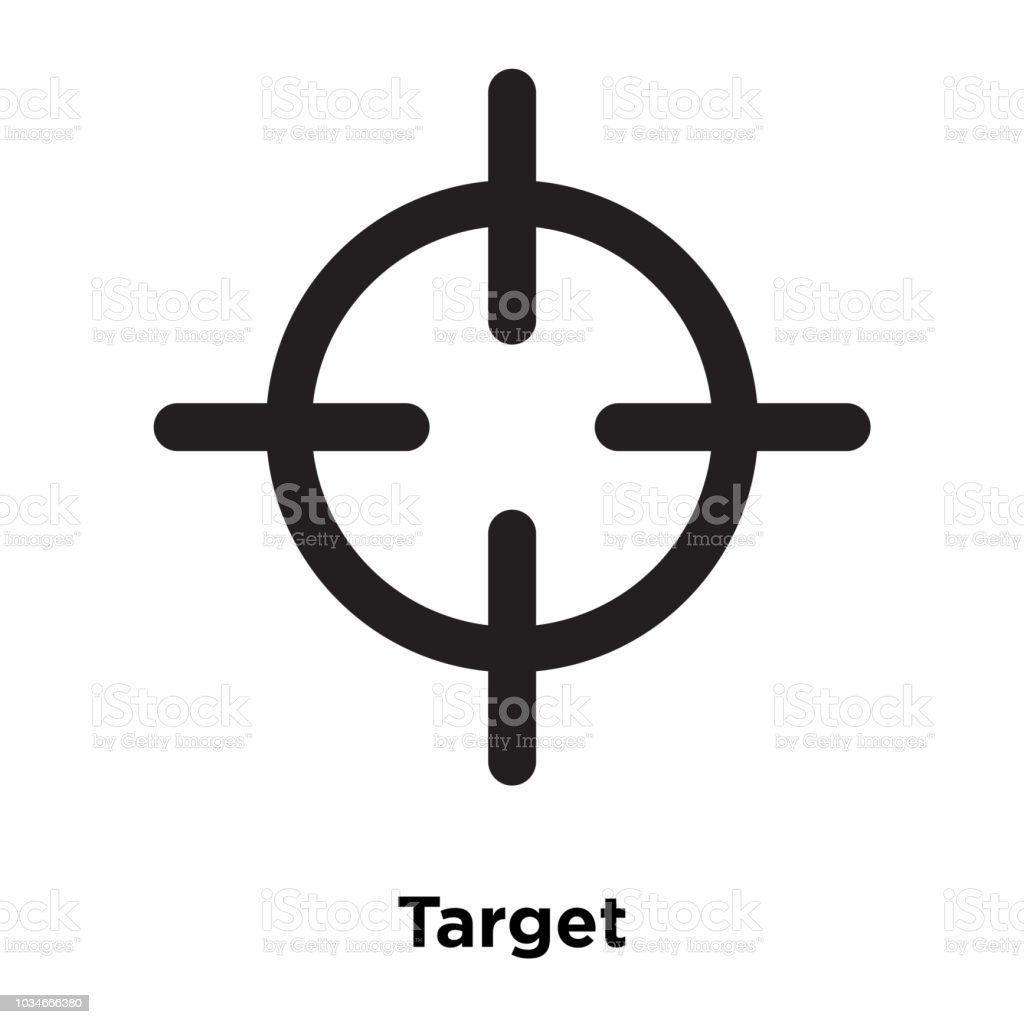 Target Icon Vector Isolated On White Background Logo Concept Of Sign Transparent