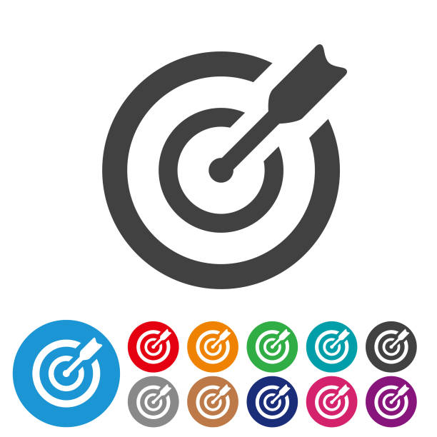 Target Icons  - Graphic Icon Series Target, darts, goal, achievement, accuracy, sports target stock illustrations