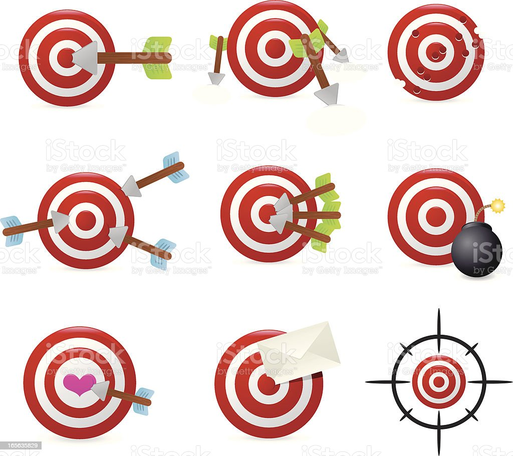 Target icons royalty-free target icons stock vector art & more images of accuracy