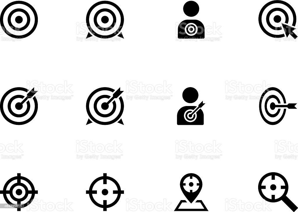 Target icons vector art illustration