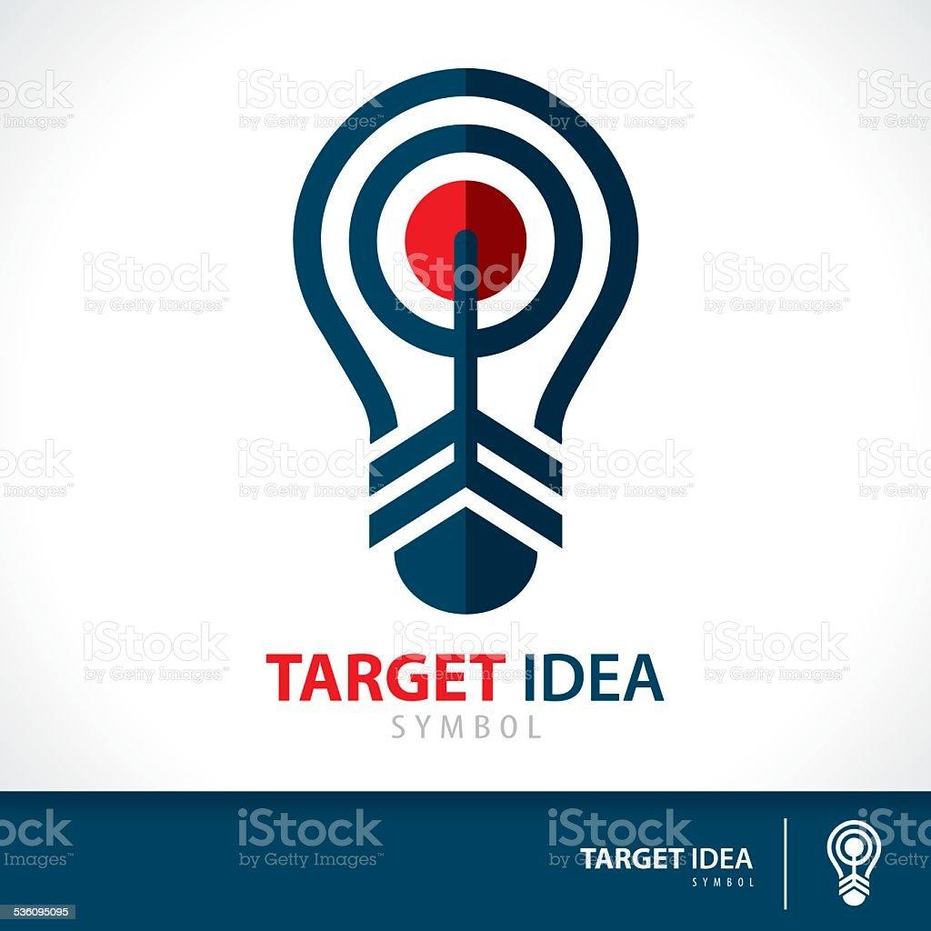 Target idea vector art illustration
