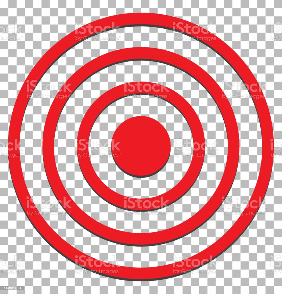 target isolated on transparent. target icon flat design style. target sign. vector art illustration