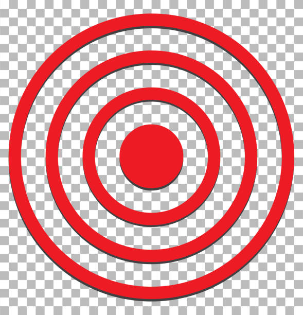 target isolated on transparent. target icon flat design style. target sign. target isolated on transparent. target icon flat design style. target sign. bull's eye stock illustrations