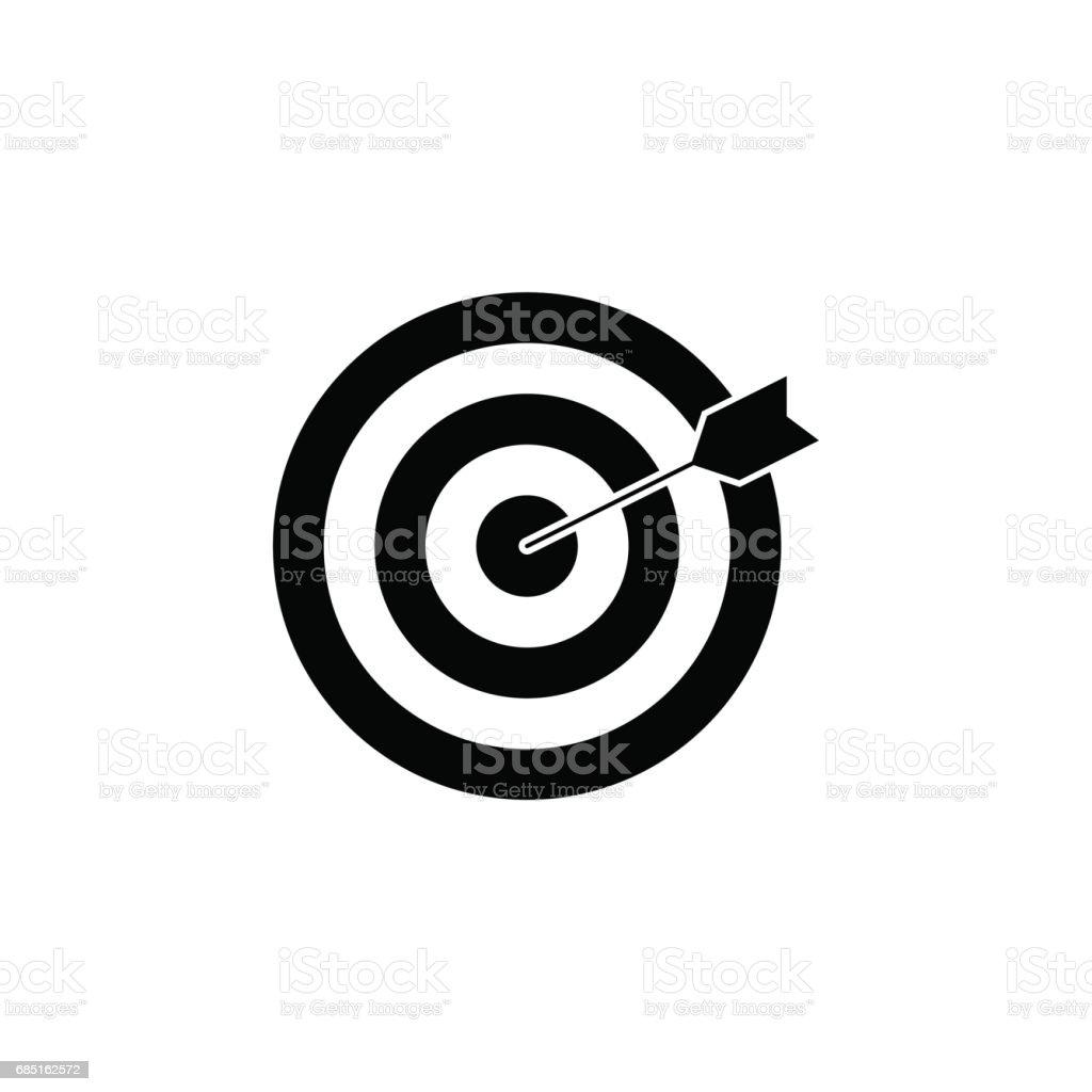 Icono sólido de la palabra clave de destino ilustración de icono sólido de la palabra clave de destino y más banco de imágenes de arco - arco y flecha libre de derechos
