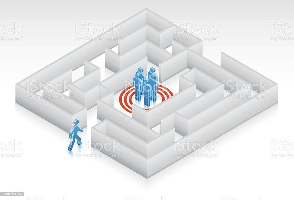 Target Maze royalty-free stock vector art