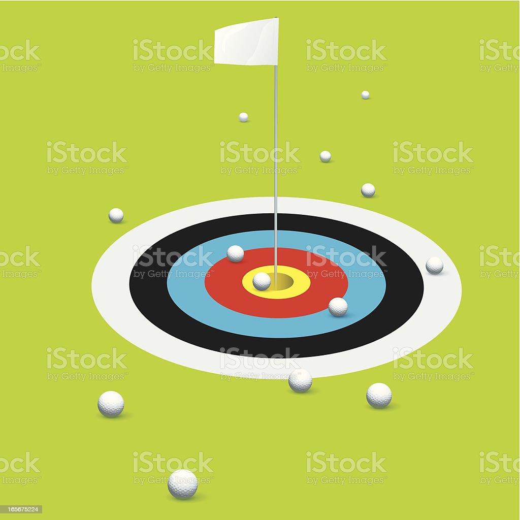 Target practice vector art illustration