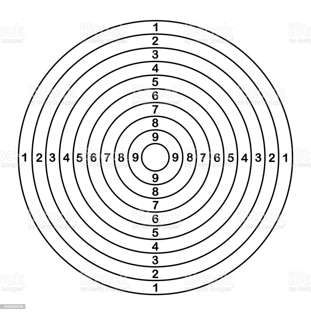 Target shoot outline. Vector illustration vector art illustration