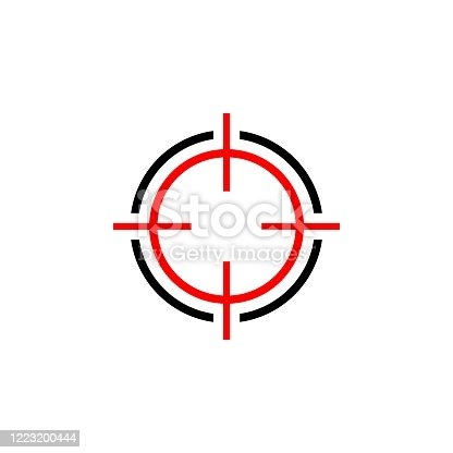 istock Target Sign Logo Template Illustration Design. Vector EPS 10. 1223200444