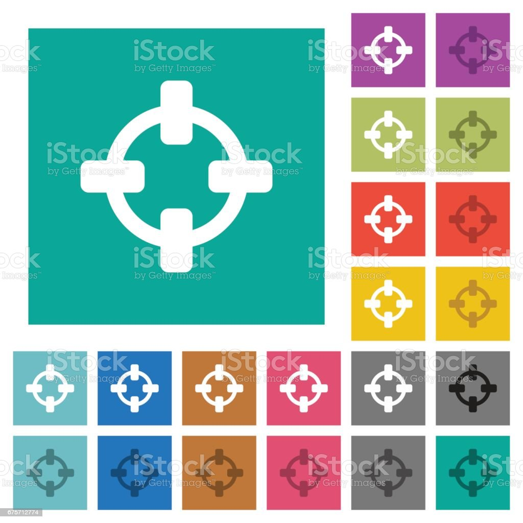 Target square flat multi colored icons royalty-free target square flat multi colored icons stock vector art & more images of accuracy
