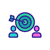 istock Target the audience is an icon vector. Isolated contour symbol illustration 1210474871