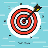 Target Thin Line Election Icon