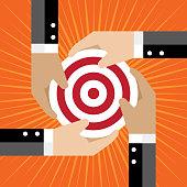 Dartboard, Sports Target, Teamwork, Global Communications, Shareholder